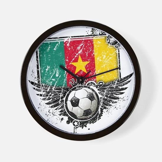 Soccer Fan Cameroon Wall Clock