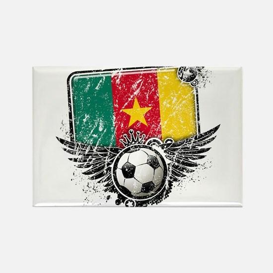 Soccer Fan Cameroon Rectangle Magnet