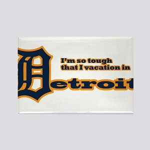 I Vacation In Detroit Rectangle Magnet