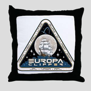Europa Clipper Logo Throw Pillow