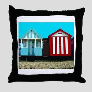 Beach Hut 1 Throw Pillow