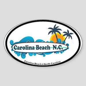 Carolina Beach NC - Surf Design Sticker (Oval)
