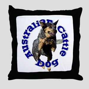 Cattle Dog House Throw Pillow