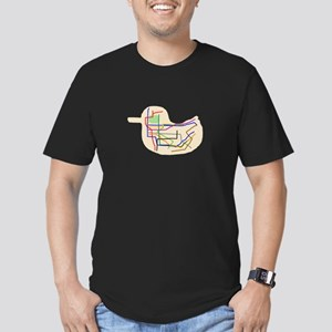 Subway Map Men's Fitted T-Shirt (dark)