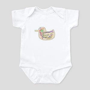 Subway Map Infant Bodysuit