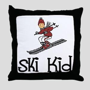 Ski Kid Christopher Throw Pillow
