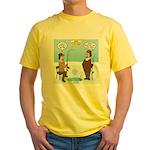 When Stupid People Go Ice Fishing Yellow T-Shirt