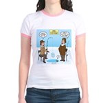 When Stupid People Go Ice Fishi Jr. Ringer T-Shirt