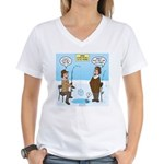 When Stupid People Go Ice F Women's V-Neck T-Shirt