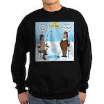 When Stupid People Go Ice Fishin Sweatshirt (dark)