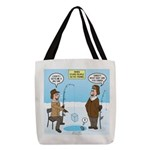 When Stupid People Go Ice Fishi Polyester Tote Bag