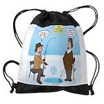 When Stupid People Go Ice Fishing Drawstring Bag