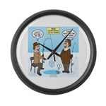 When Stupid People Go Ice Fishing Large Wall Clock
