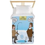 When Stupid People Go Ice Fishing Twin Duvet Cover