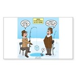 When Stupid People Go Ice Fish Sticker (Rectangle)