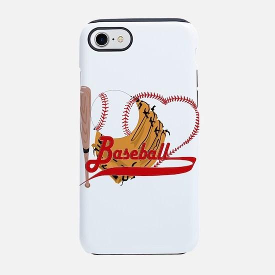 I Love Baseball iPhone 7 Tough Case