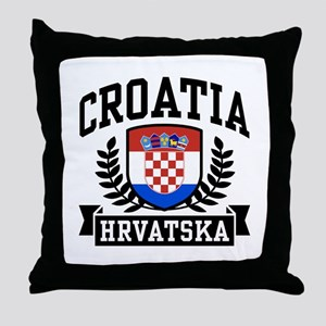 Croatia Hrvatska Throw Pillow