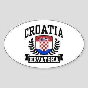Croatia Hrvatska Sticker (Oval)