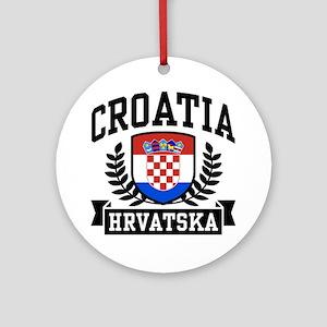 Croatia Hrvatska Ornament (Round)