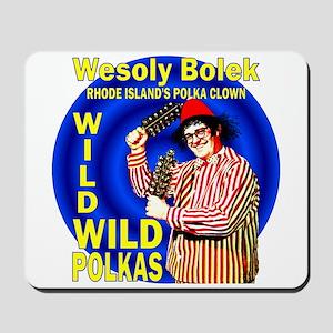Wild Polka Clown Mousepad