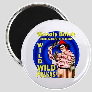 Wild Polka Clown Magnet