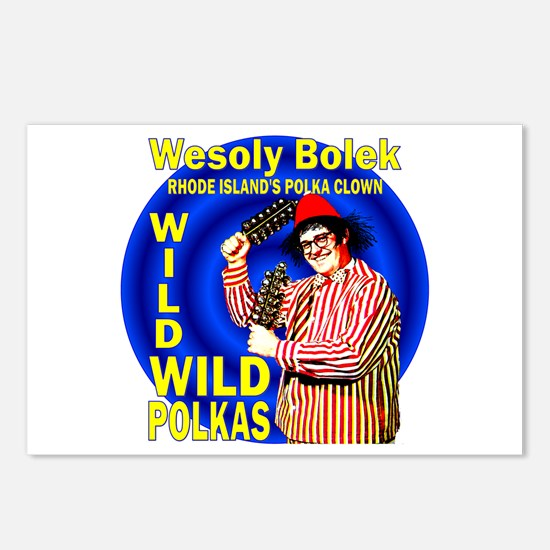 Wild Polka Clown Postcards (Package of 8)