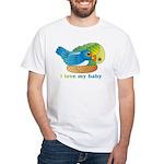 Bird Mum White T-Shirt