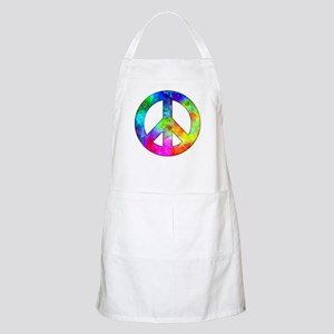 Retro tie-dyed peace sign Apron