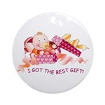 Baby-girl Gift  Ornament (Round)