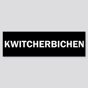 Kwitcherbichen Sticker (Bumper)