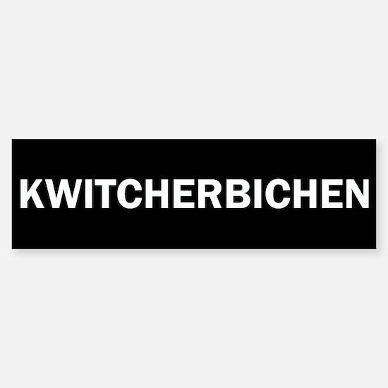 Kwitcherbichen Sticker (Bumper)