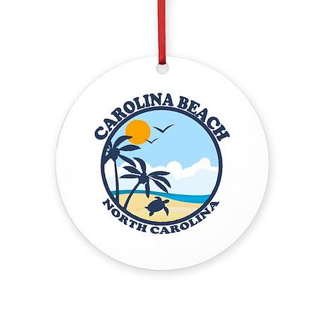 Carolina Beach NC - Beach Design Ornament (Round)