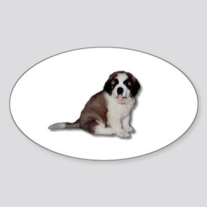 Saint Bernard Puppy Oval Sticker