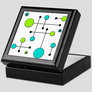 Lime & Teal Dot Dash Keepsake Box