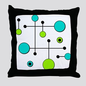 Lime & Teal Dot Dash Throw Pillow