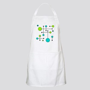 Lime & Teal Dot Dash Apron