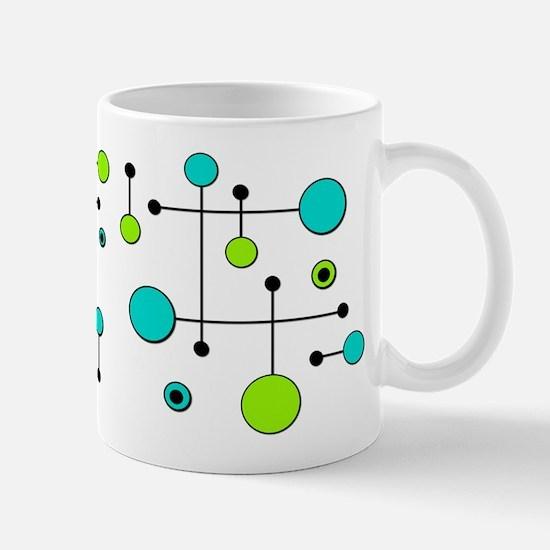 Lime & Teal Dot Dash Mug