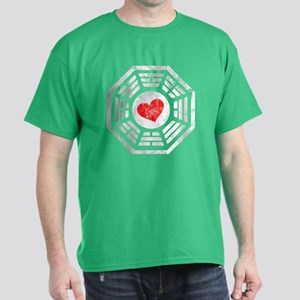 Red Heart Dharma Dark T-Shirt