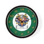 Tuohy Irish Coat of Arms Wall Clock