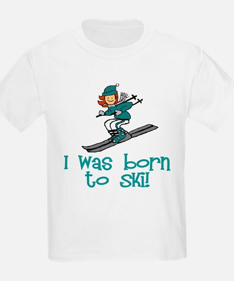 Born to Ski Abigail Kids T-Shirt