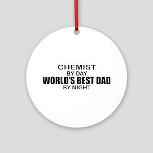 World's Best Dad - Chemist Ornament (Round)
