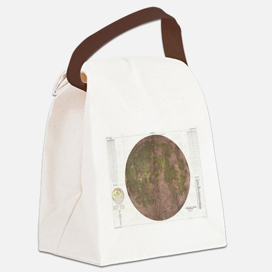 Vintage Map of The Moon (1961) 2 Canvas Lunch Bag