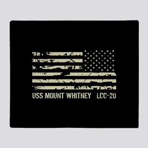 USS Mount Whitney Throw Blanket