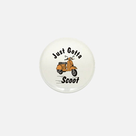 Just Gotta Scoot Orange Mini Button
