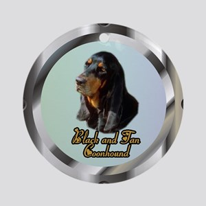 Black and Tan Coonhound Ornament (Round)