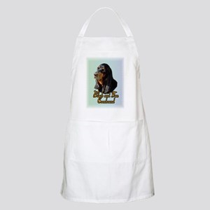 Black and Tan Coonhound BBQ Apron
