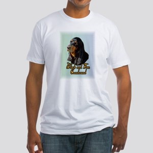 Black and Tan Coonhound Fitted T-Shirt