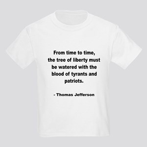 Jefferson Tree of Liberty Quote (Front) Kids T-Shi