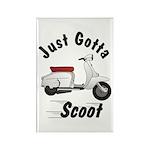 Just Gotta Scoot Lambretta Rectangle Magnet (10 pa