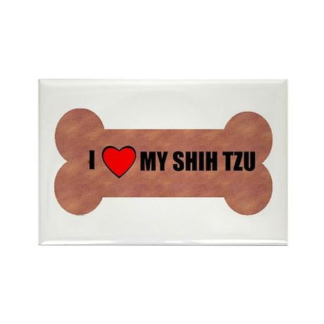 I LOVE MY SHIH TZU Rectangle Magnet (100 pack)